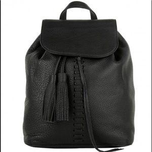 Rebecca Minkoff Moto Black Leather Backpack